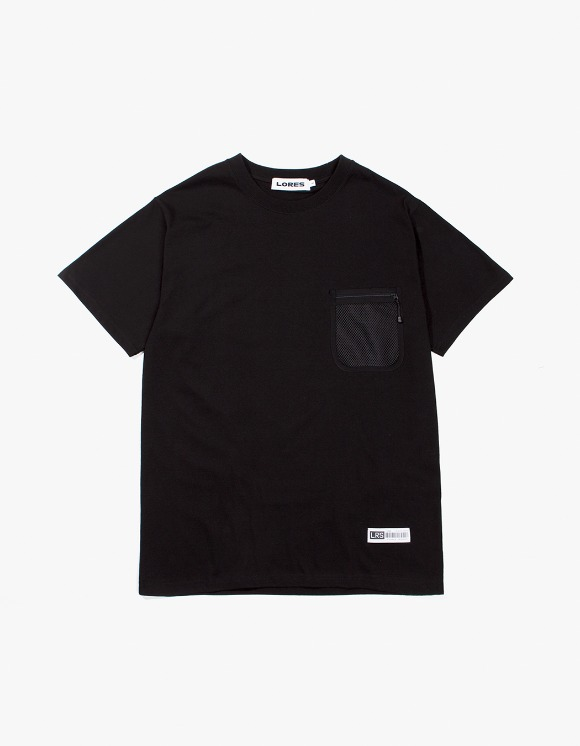 Lores Mesh Pocket S/S T-Shirts - Black | HEIGHTS. | 하이츠 온라인 스토어