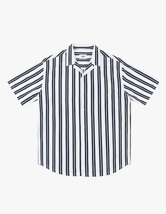CLIF Summer Stripe Shirt - Navy | HEIGHTS. | 하이츠 온라인 스토어