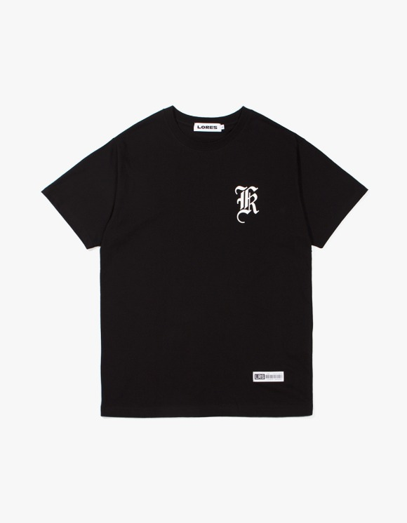 Lores Old English Logo T-Shirt - Black | HEIGHTS. | 하이츠 온라인 스토어