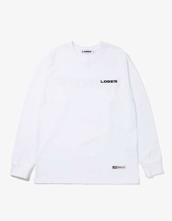 Lores Logo L/S T-shirts - White | HEIGHTS. | 하이츠 온라인 스토어