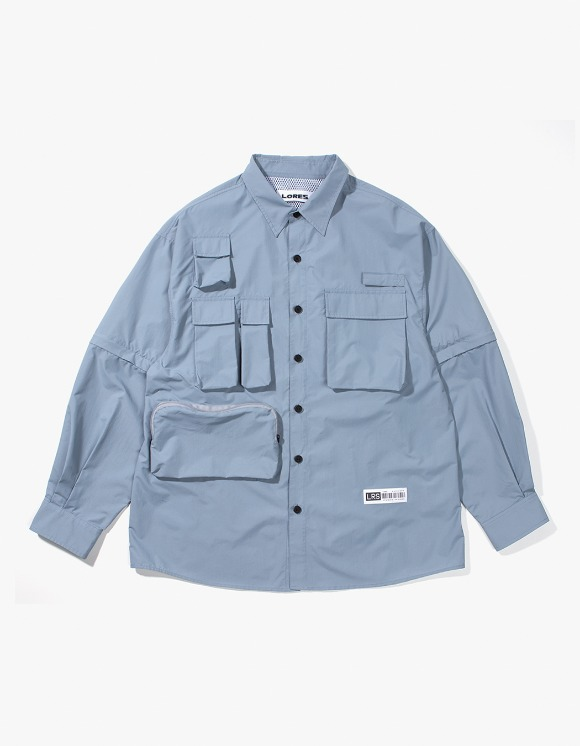 Lores Utility Shirts - Sky Blue | HEIGHTS. | 하이츠 온라인 스토어
