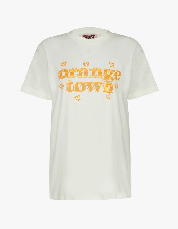 Margarin Fingers Orange Town Tee - Ivory | HEIGHTS. | 하이츠 온라인 스토어