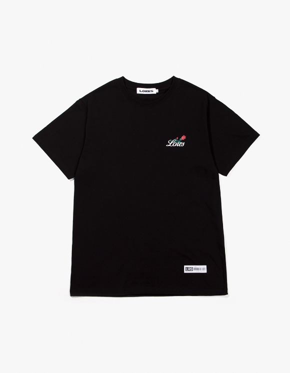 Lores Rose S/S T-Shirt - Black | HEIGHTS. | 하이츠 온라인 스토어