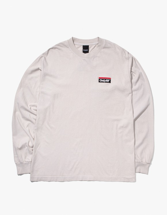 Only NY Subway Logo L/S T-Shirt - Cement | HEIGHTS. | 하이츠 온라인 스토어