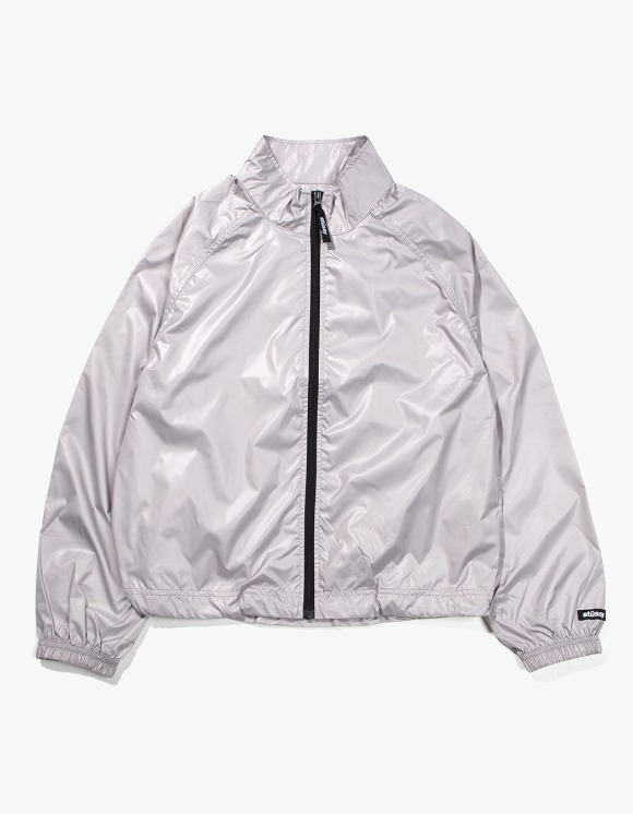 Stussy Langley Shiny Zip Jacket - Grey | HEIGHTS. | 하이츠 온라인 스토어