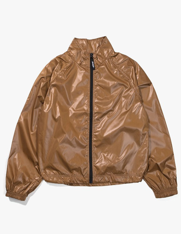 Stussy Langley Shiny Zip Jacket - Tan | HEIGHTS. | 하이츠 온라인 스토어