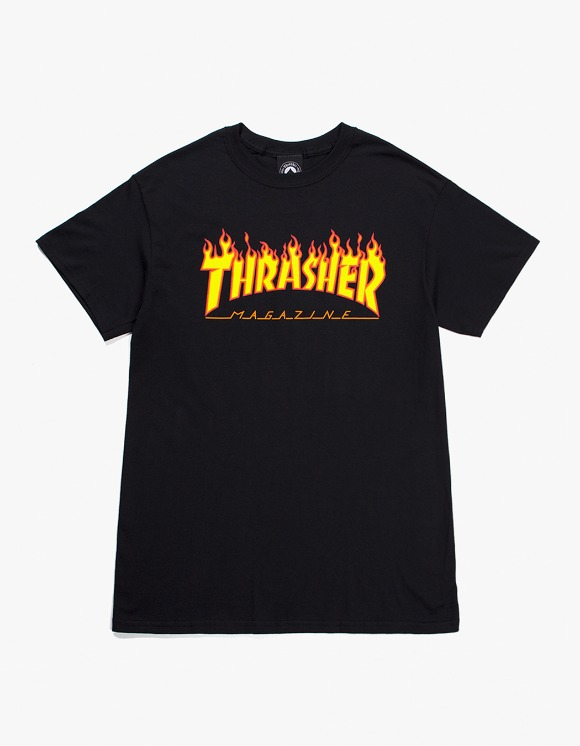 Thrasher Flame S/S Tee - Black | HEIGHTS. | 하이츠 온라인 스토어