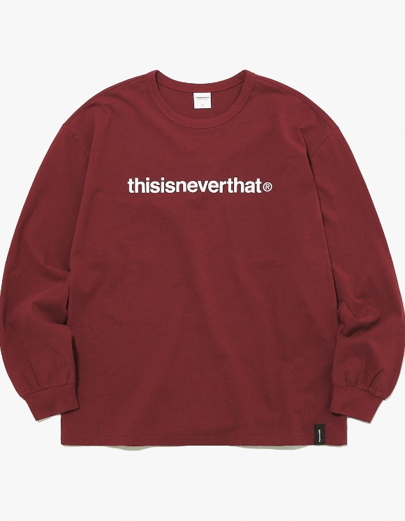 thisisneverthat T-Logo L/SL Top - Burgundy | HEIGHTS. | 하이츠 온라인 스토어