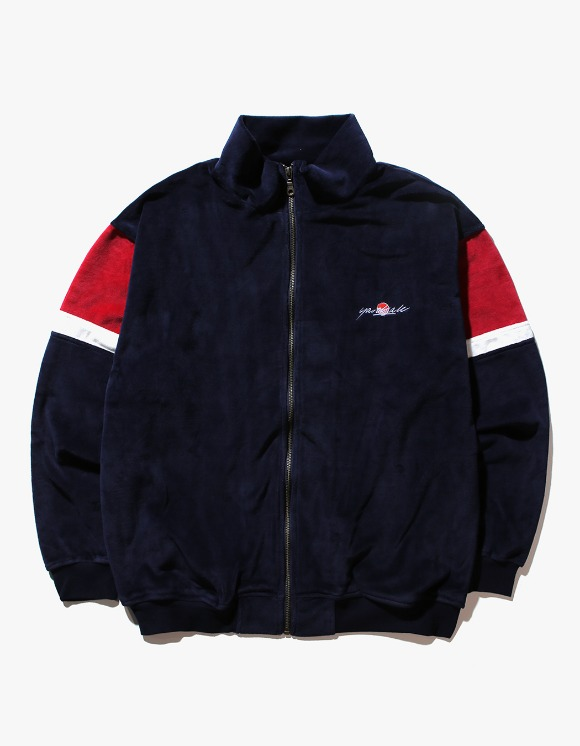 Yard Sale Velour Track Top - Navy/Red | HEIGHTS. | 하이츠 온라인 스토어