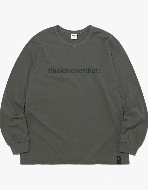 thisisneverthat T-Logo L/SL Top - Dark Olive | HEIGHTS. | 하이츠 온라인 스토어