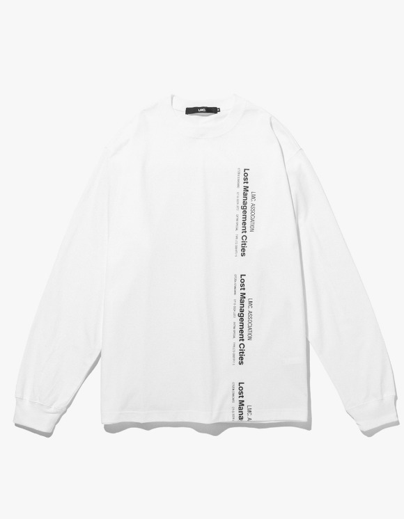 LMC LMC VERTICAL MIL LONG SLV TEE white | HEIGHTS. | 하이츠 온라인 스토어
