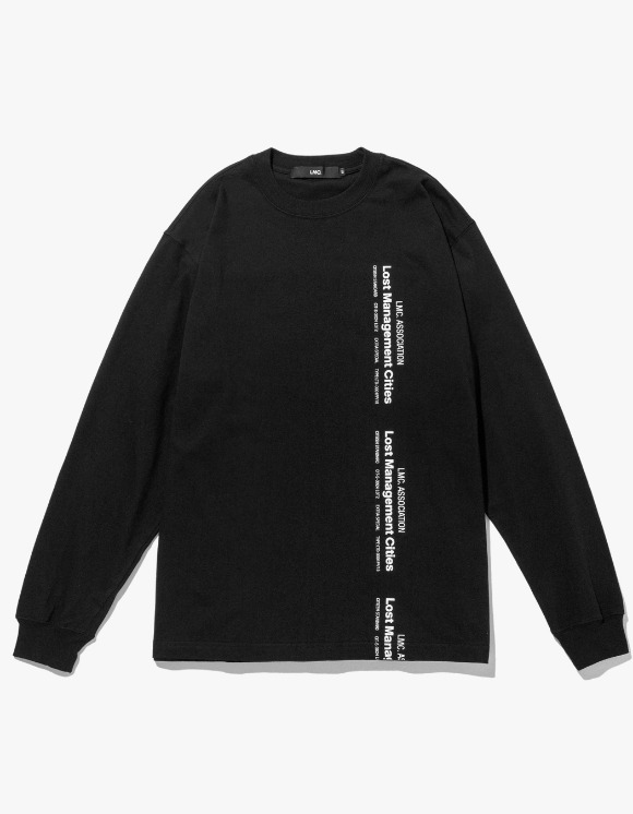 LMC LMC VERTICAL MIL LONG SLV TEE black | HEIGHTS. | 하이츠 온라인 스토어