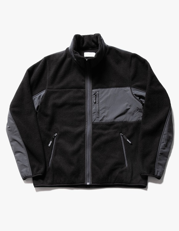 IZOLA NYC Sherpa Fleece Jacket - Black | HEIGHTS. | 하이츠 온라인 스토어