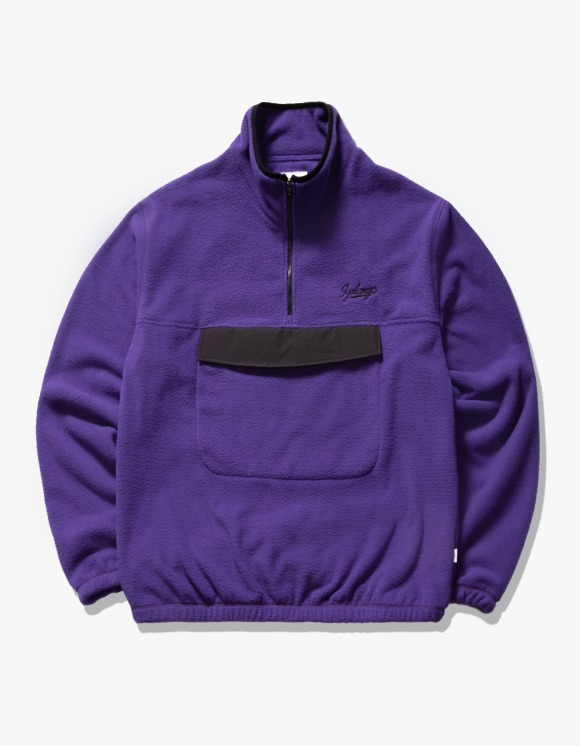 IZOLA NYC Fleece Mock Neck Anorak - Purple | HEIGHTS. | 하이츠 온라인 스토어