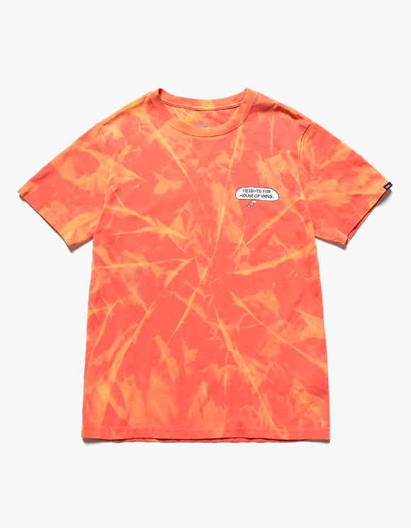 Vans HEIGHTS. X HOV Bleached S/S Tee - Orange | HEIGHTS. | 하이츠 온라인 스토어