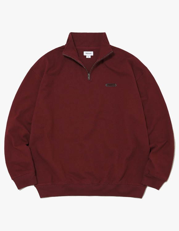 thisisneverthat Rubber SP Half ZIP Pullover - Burgundy | HEIGHTS. | 하이츠 온라인 스토어
