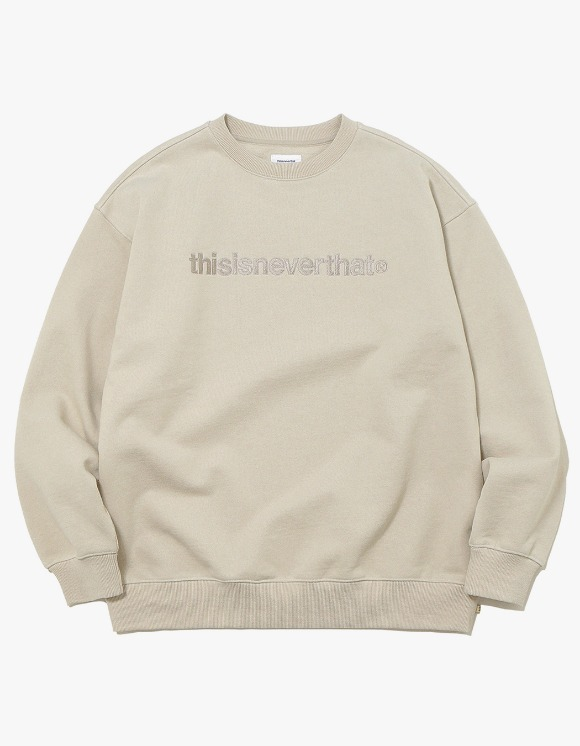 thisisneverthat T-Logo Crewneck - Beige | HEIGHTS. | 하이츠 온라인 스토어