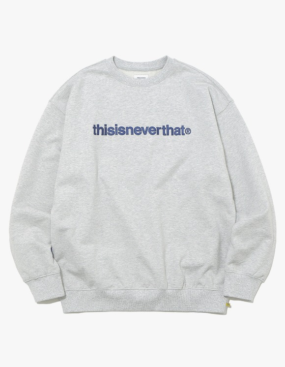 thisisneverthat T-Logo Crewneck - Grey | HEIGHTS. | 하이츠 온라인 스토어