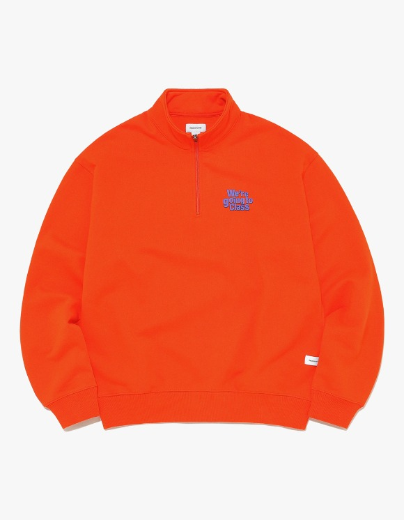 thisisneverthat GOING TO CLASS Half ZIP Pullover - Orange | HEIGHTS. | 하이츠 온라인 스토어