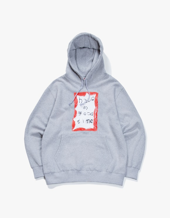 have a good time Crayon Frame Pullover Hoodie - Heather Grey | HEIGHTS. | 하이츠 온라인 스토어