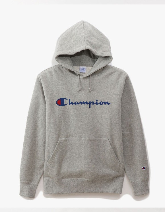 Champion Logo Pullover Hoodie - Heather Grey | HEIGHTS. | 하이츠 온라인 스토어