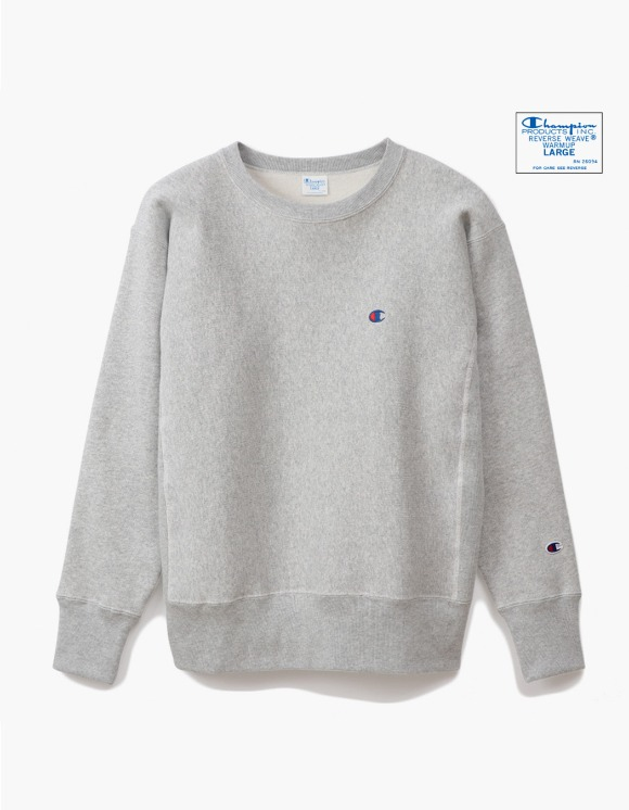Champion Reverse Weave®11.5OZ Blue Tag Big Silhouette Crewneck - Grey | HEIGHTS. | 하이츠 온라인 스토어