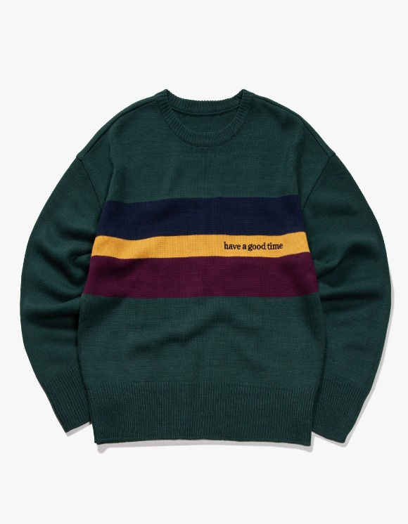 have a good time Side Logo Heavy Knit Sweater - Dark Green | HEIGHTS. | 하이츠 온라인 스토어
