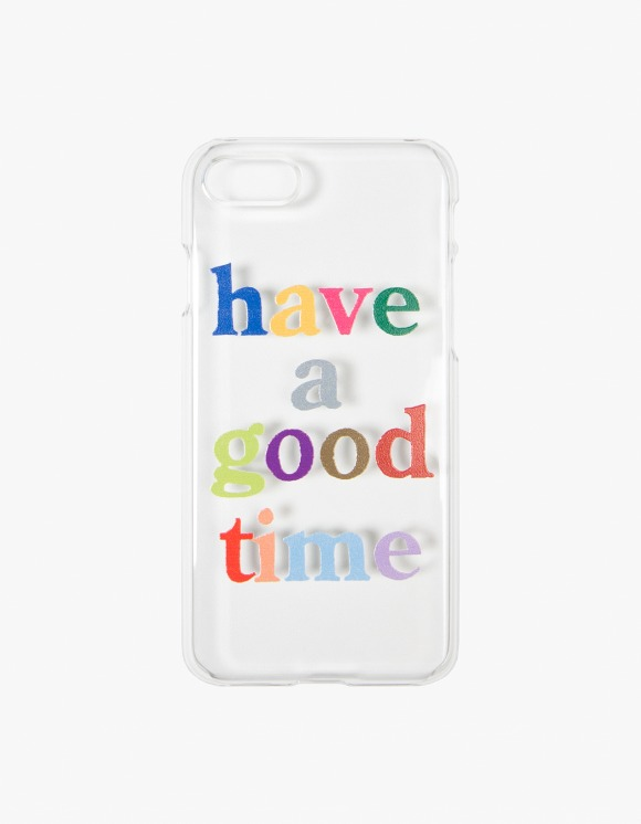 have a good time Colorful Logo Clear iPhone Case - 6,7,8 | HEIGHTS. | 하이츠 온라인 스토어