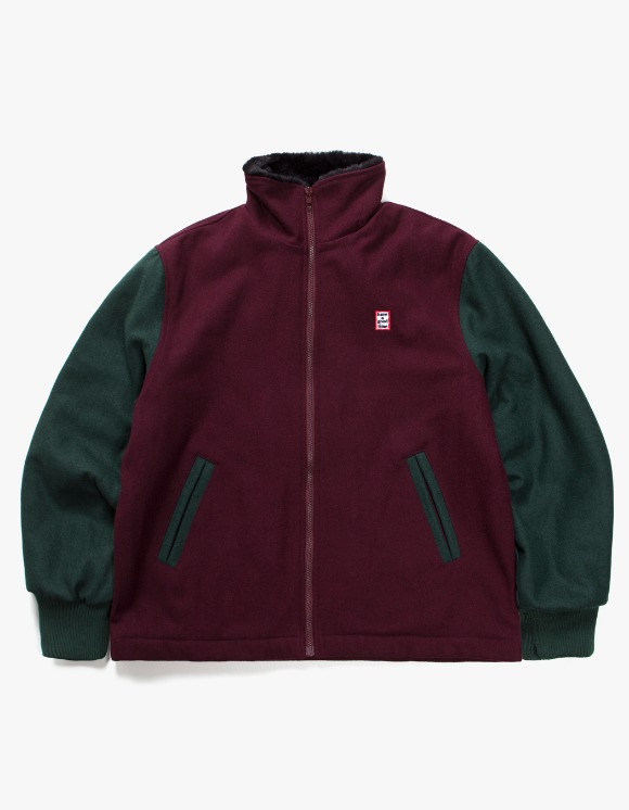 have a good time Zip-Up Wool Stardium Jacket - Maroon | HEIGHTS. | 하이츠 온라인 스토어