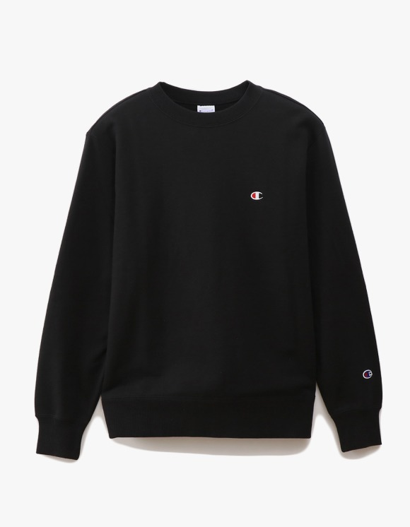 Champion Basic Crewneck Sweatshirts - Black | HEIGHTS. | 하이츠 온라인 스토어