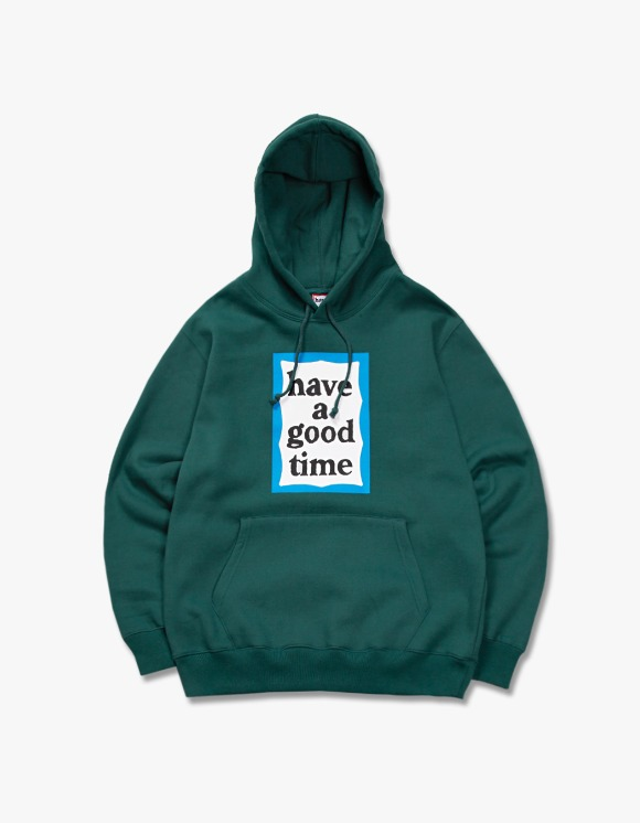 have a good time Blue Frame Pullover Hoodie - Smokey Green | HEIGHTS. | 하이츠 온라인 스토어