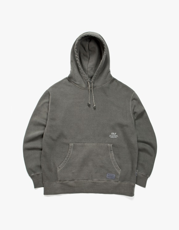 IZOLA NYC Over Dyed Hoodie - Charcoal | HEIGHTS. | 하이츠 온라인 스토어