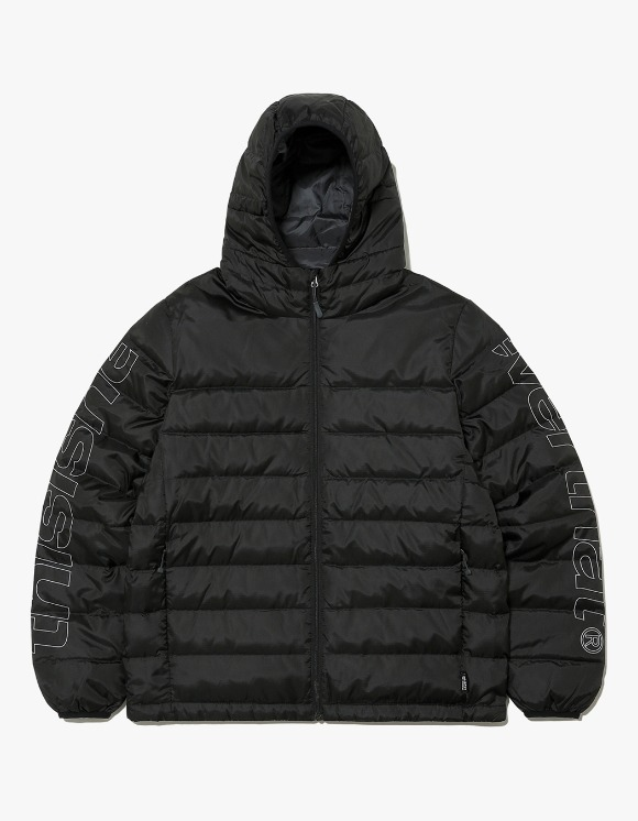 thisisneverthat HSP Hooded Down Jacket - Black | HEIGHTS. | 하이츠 온라인 스토어