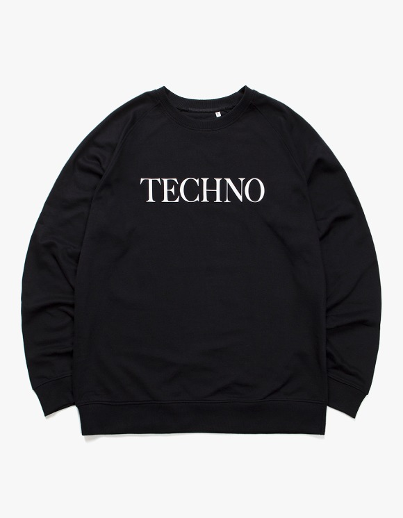 IDEA TECHNO Crewneck - Black | HEIGHTS. | 하이츠 온라인 스토어