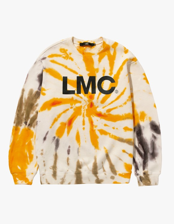 LMC LMC TIE DYE OG WHEEL SWEATSHIRT yellow | HEIGHTS. | 하이츠 온라인 스토어