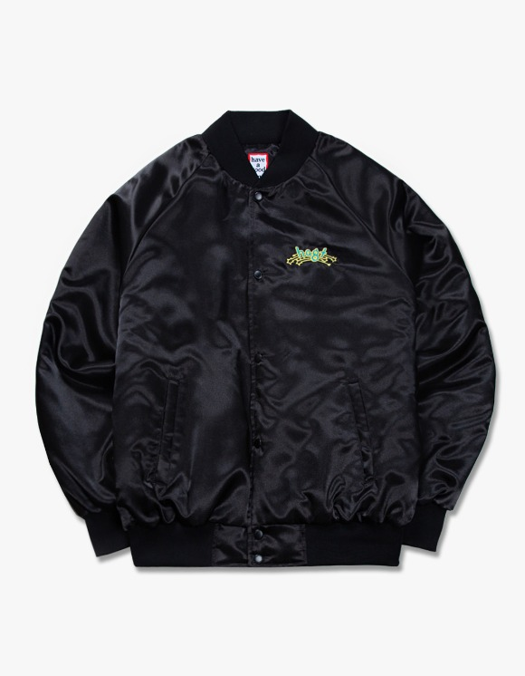 have a good time h.a.g.t Club Stadium Jacket - Black | HEIGHTS. | 하이츠 온라인 스토어