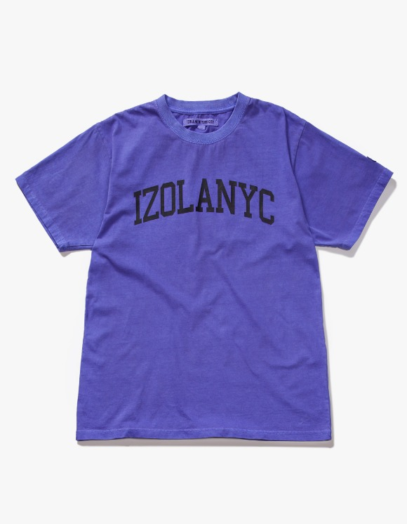 IZOLA NYC Over Dyed College S/S Tee - Purple | HEIGHTS. | 하이츠 온라인 스토어
