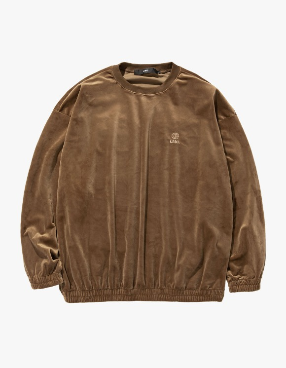LMC LMC VELOUR OVERSIZED SWEATSHIRT brown | HEIGHTS. | 하이츠 온라인 스토어