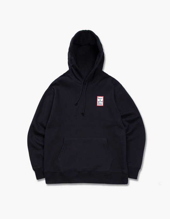 have a good time Mini Frame Pullover Hoodie - Black | HEIGHTS. | 하이츠 온라인 스토어