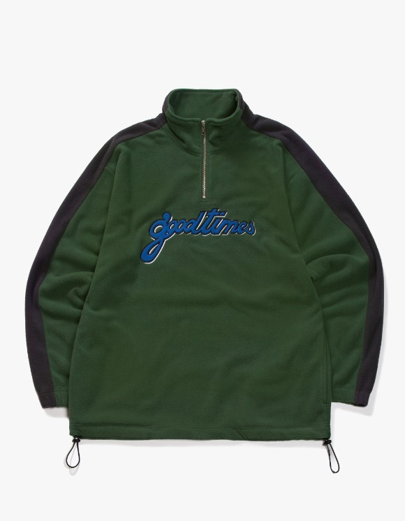 have a good time Good Time Half-Zip Fleece - Dark Green | HEIGHTS. | 하이츠 온라인 스토어