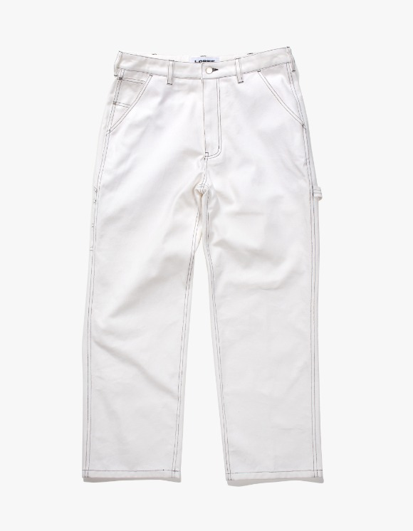 Lores Canvas Painters Pants - White | HEIGHTS. | 하이츠 온라인 스토어