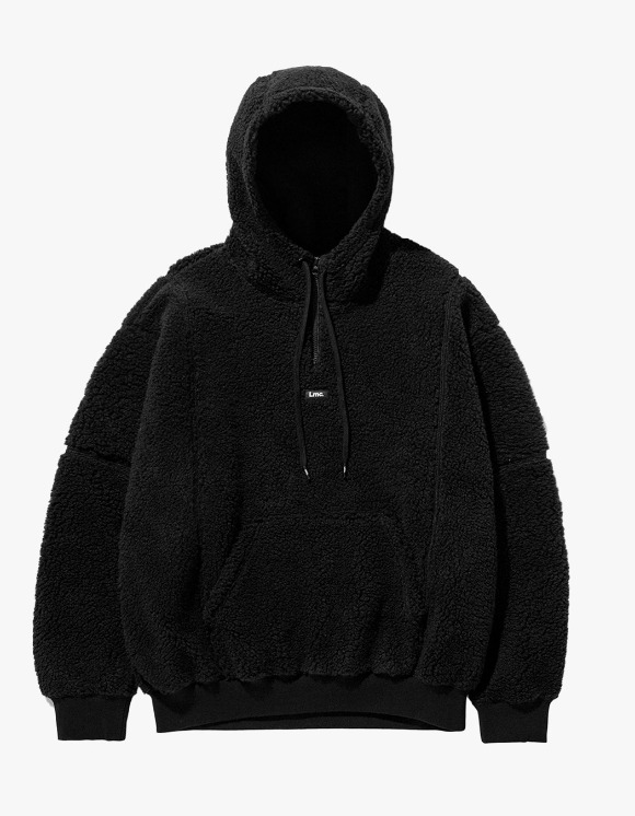LMC LMC BOA FLEECE QUARTER ZIP HOODIE black | HEIGHTS. | 하이츠 온라인 스토어