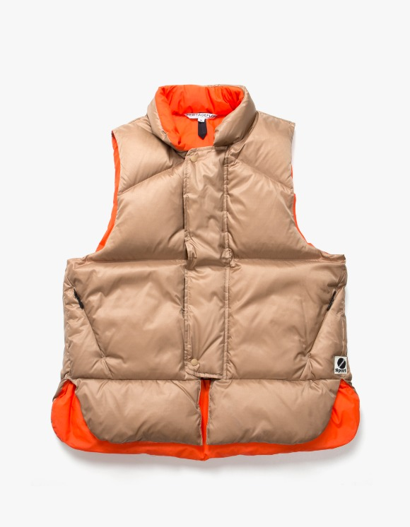 Heritage Floss Goose Down Life Vest - Light Brown | HEIGHTS. | 하이츠 온라인 스토어