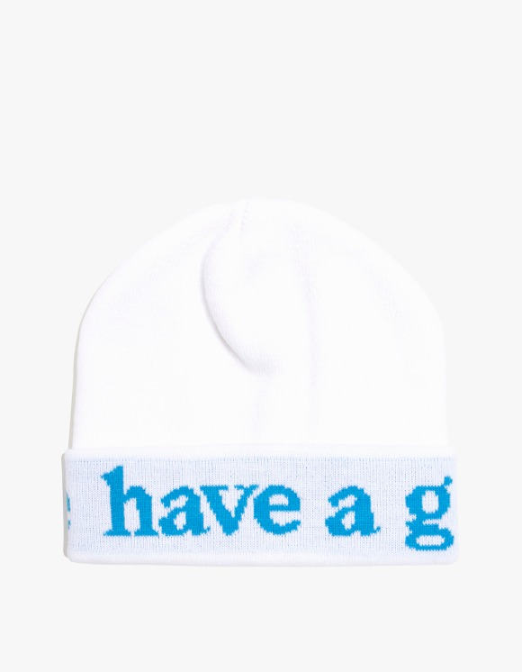 have a good time Side Logo Beanie - White | HEIGHTS. | 하이츠 온라인 스토어