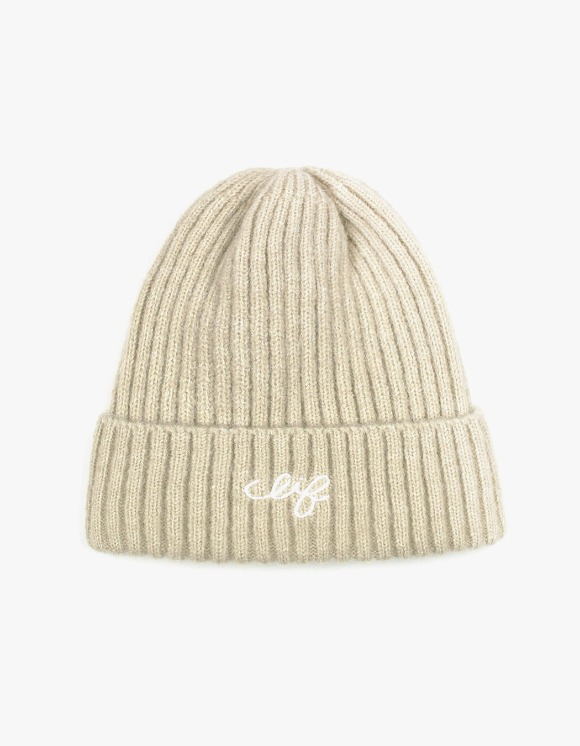 CLIF Logo Wool Beanie - Beige | HEIGHTS. | 하이츠 온라인 스토어