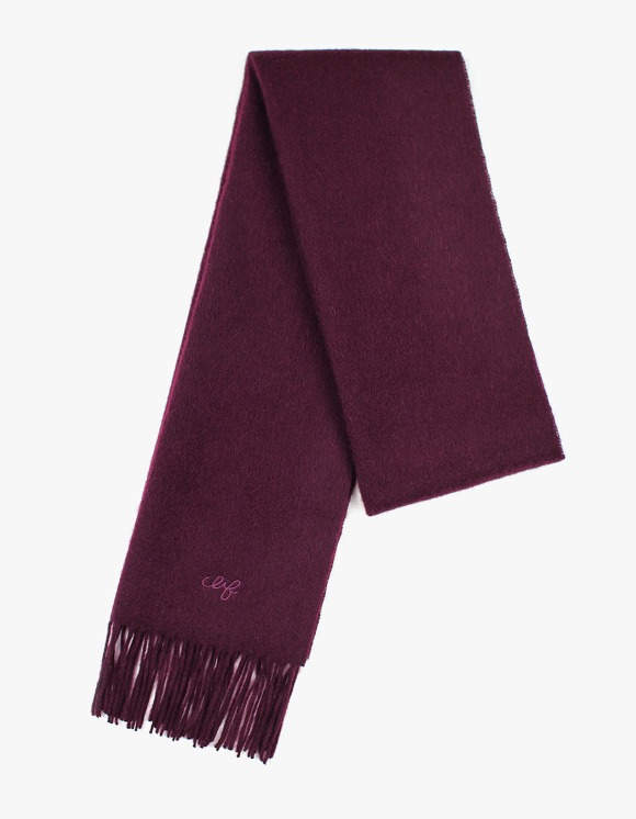 CLIF Solid Wool Muffler - Burgundy | HEIGHTS. | 하이츠 온라인 스토어