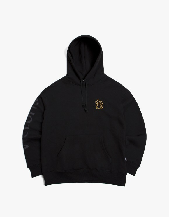 Victoria Hong Kong Queen Head Tonal Logo Hoodie - Black | HEIGHTS. | 하이츠 온라인 스토어