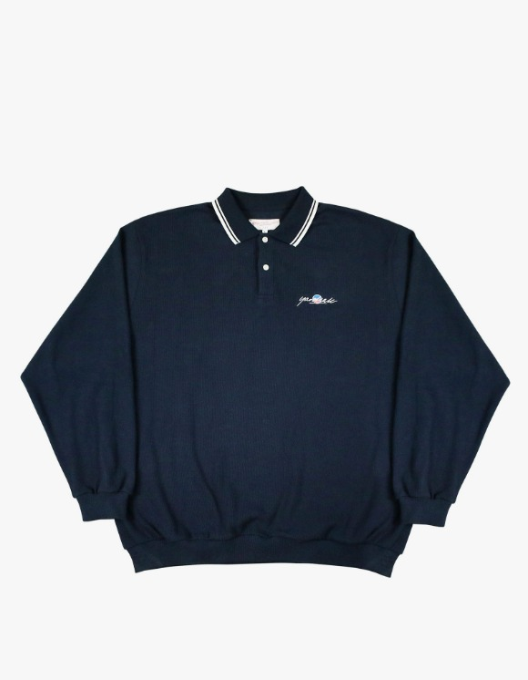Yard Sale Lounge Polo Sweat - Navy | HEIGHTS. | 하이츠 온라인 스토어