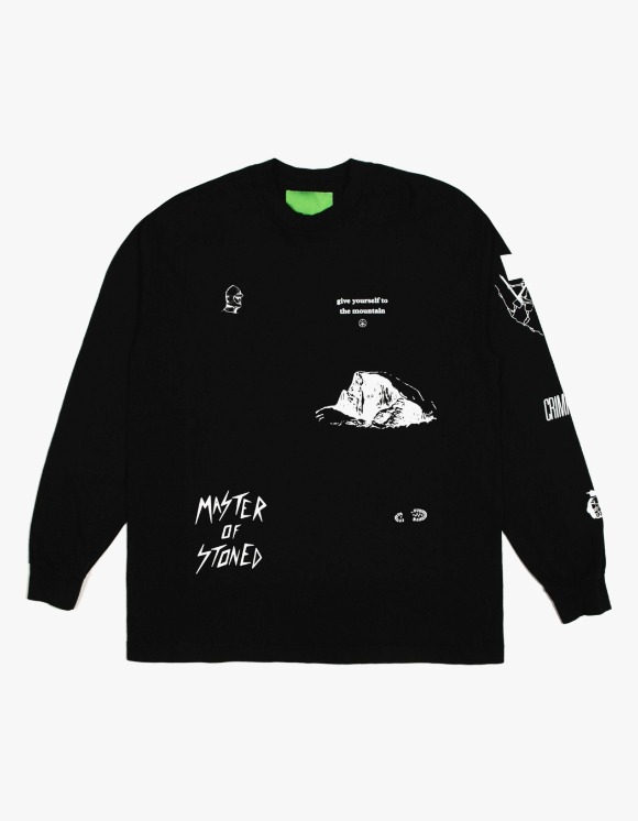 Mister Green Multi L/S Tee - Black | HEIGHTS. | 하이츠 온라인 스토어