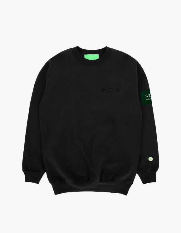 Mister Green Trifecta GEAR Edition Crew - Black | HEIGHTS. | 하이츠 온라인 스토어